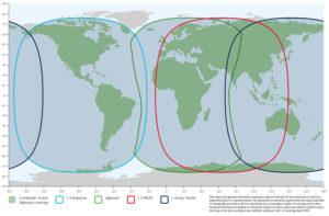 carte de couverture Inmarsat
